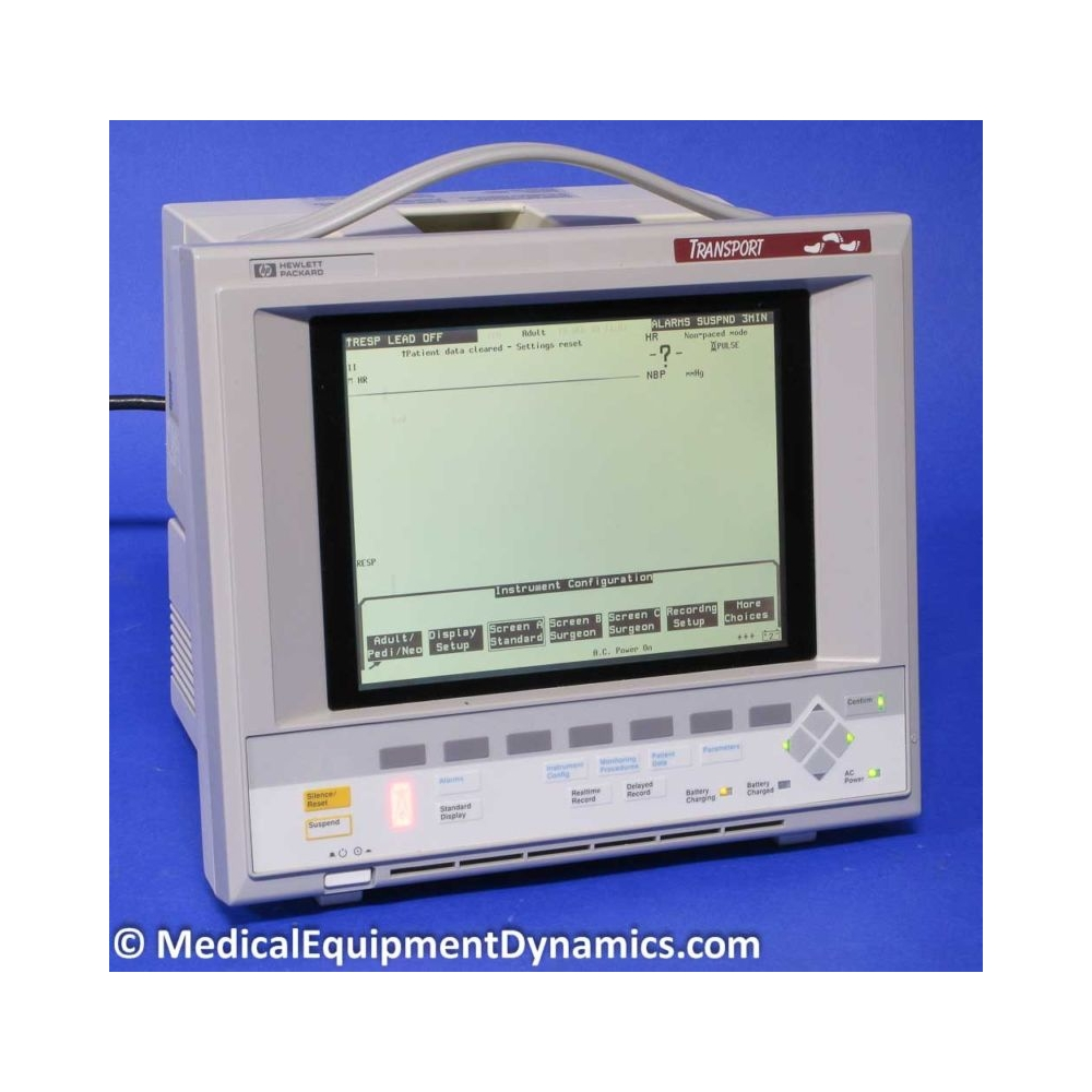 HP M1277A Patient Transport Monitor - Medical Equipment Dynamics